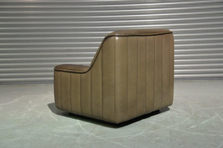 Vintage Swiss De Sede DS 84 leather sofa and armchair, Switzerland 1970s For Sale 6