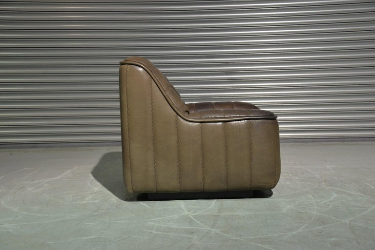 Vintage Swiss De Sede Ds 84 Leather Sofa and Armchair, Switzerland, 1970s For Sale 8
