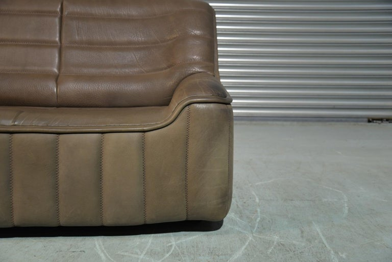 Vintage Swiss De Sede DS 84 leather sofa and armchair, Switzerland 1970s For Sale 8
