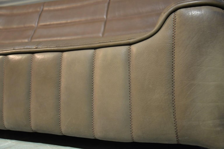 Vintage Swiss De Sede DS 84 leather sofa and armchair, Switzerland 1970s For Sale 9