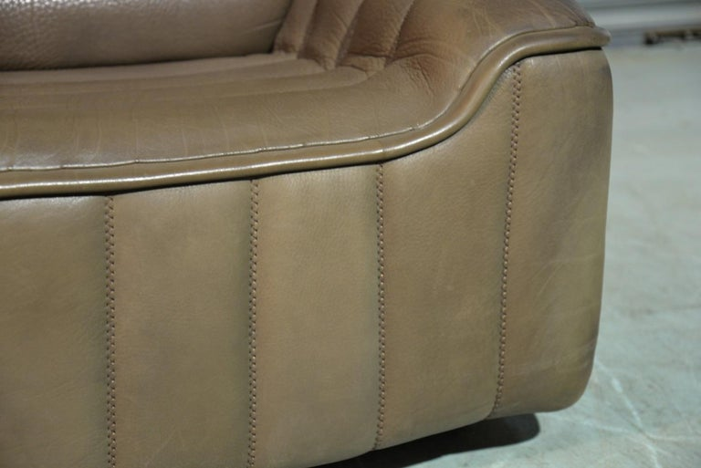 Vintage Swiss De Sede DS 84 leather sofa and armchair, Switzerland 1970s For Sale 10