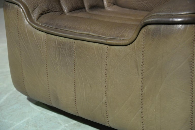 Vintage Swiss De Sede Ds 84 Leather Sofa and Armchair, Switzerland, 1970s For Sale 12