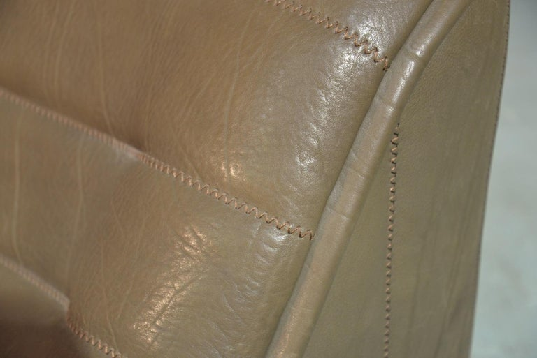 Vintage Swiss De Sede Ds 84 Leather Sofa and Armchair, Switzerland, 1970s For Sale 15