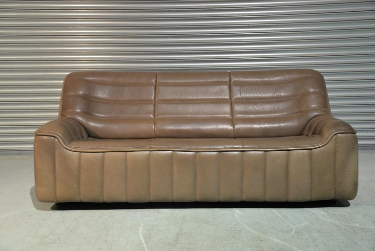Vintage Swiss De Sede Ds 84 Leather Sofa and Armchair, Switzerland, 1970s For Sale 3
