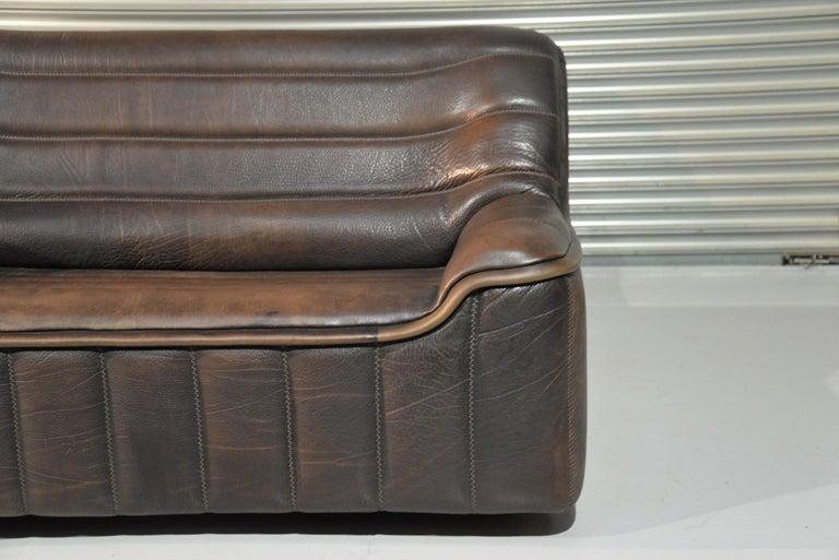 Vintage De Sede DS 84 Leather Sofas, Switzerland 1970s For Sale 7