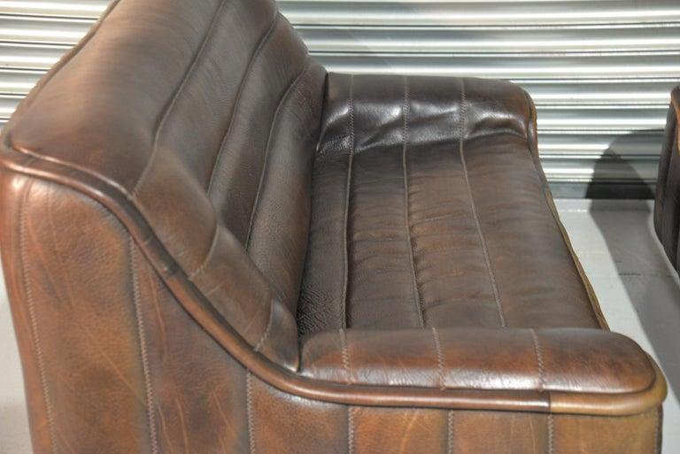 Vintage De Sede DS 84 Leather Sofas, Switzerland 1970s For Sale 9