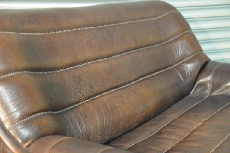 Vintage De Sede DS 84 Leather Sofas, Switzerland 1970s For Sale 12
