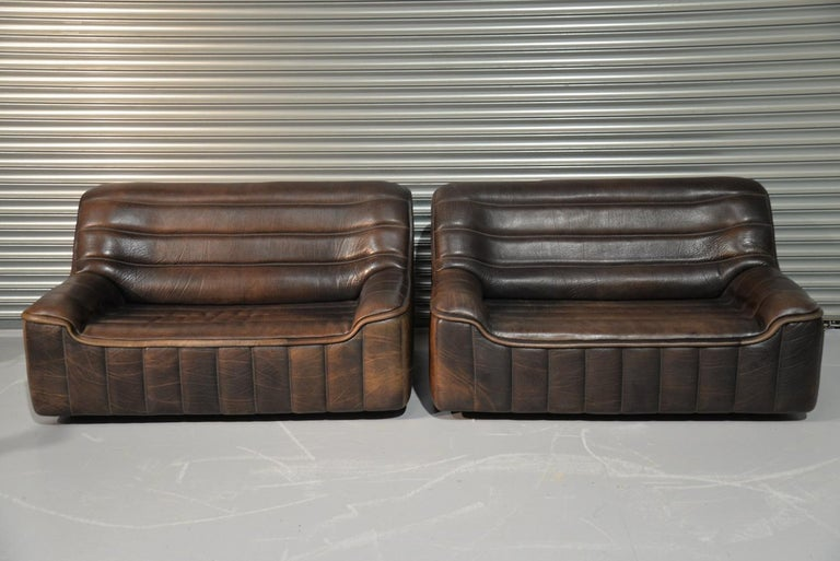 Mid-Century Modern Vintage De Sede DS 84 Leather Sofas, Switzerland 1970s For Sale