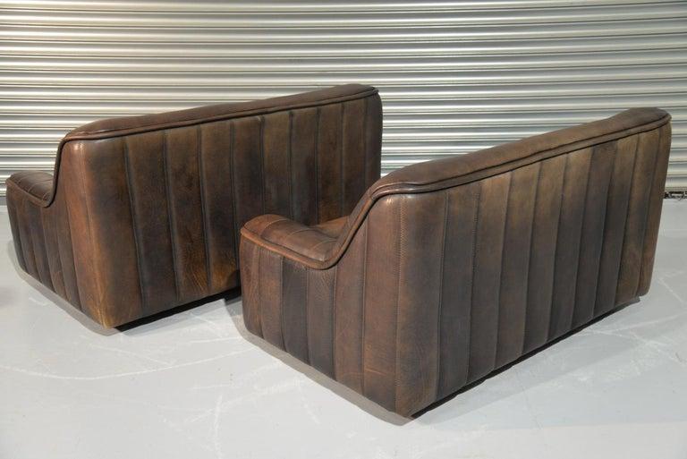Swiss Vintage De Sede DS 84 Leather Sofas, Switzerland 1970s For Sale