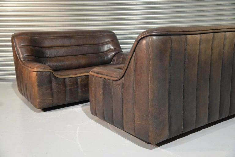 Vintage De Sede DS 84 Leather Sofas, Switzerland 1970s In Good Condition For Sale In Fen Drayton, Cambridgeshire