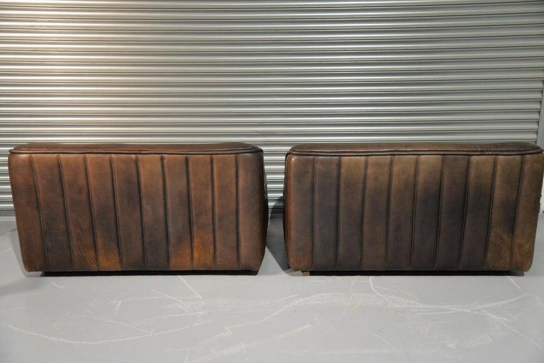 Late 20th Century Vintage De Sede DS 84 Leather Sofas, Switzerland 1970s For Sale