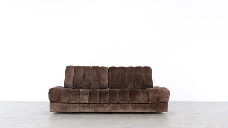 Mid-Century Modern Vintage Swiss De Sede DS 85 Daybed and Sofa and Loveseat, 1970s