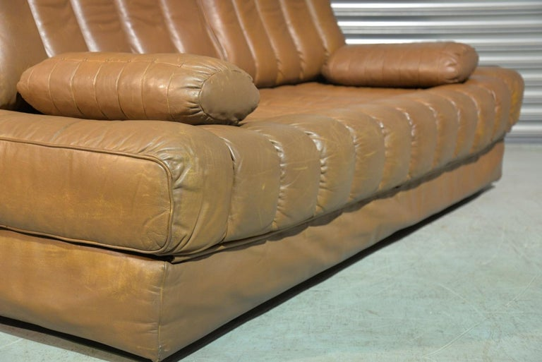 Vintage de Sede DS 85 Leather Sofa, Daybed and Loveseat, Switzerland 1960s For Sale 4