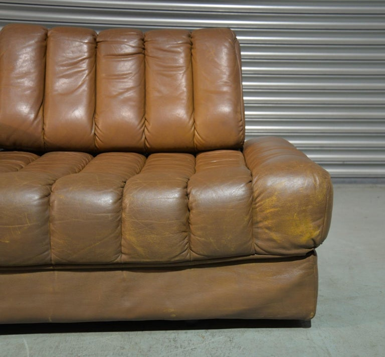 Vintage de Sede DS 85 Leather Sofa, Daybed and Loveseat, Switzerland 1960s For Sale 5