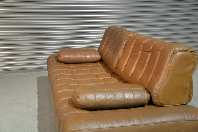 Swiss Vintage de Sede DS 85 Leather Sofa, Daybed and Loveseat, Switzerland 1960s For Sale