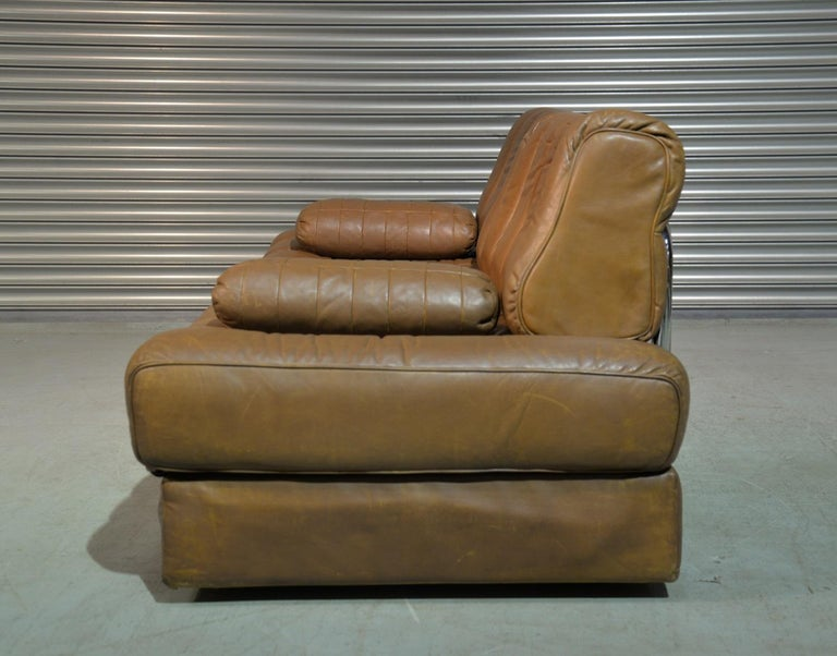 Vintage de Sede DS 85 Leather Sofa, Daybed and Loveseat, Switzerland 1960s In Good Condition For Sale In Fen Drayton, Cambridgeshire