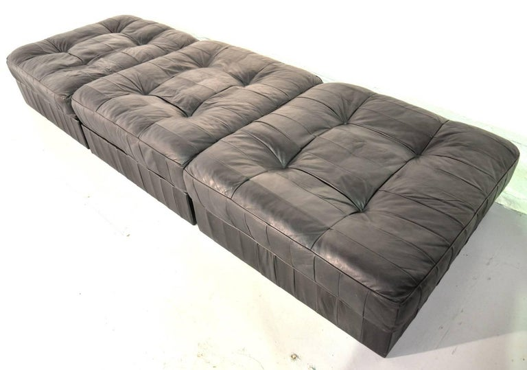 Vintage De Sede Ds 88 Patchwork Leather Sofa and Daybed, Switzerland 1960s For Sale 6