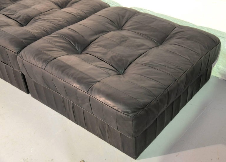 Vintage De Sede Ds 88 Patchwork Leather Sofa and Daybed, Switzerland 1960s For Sale 7