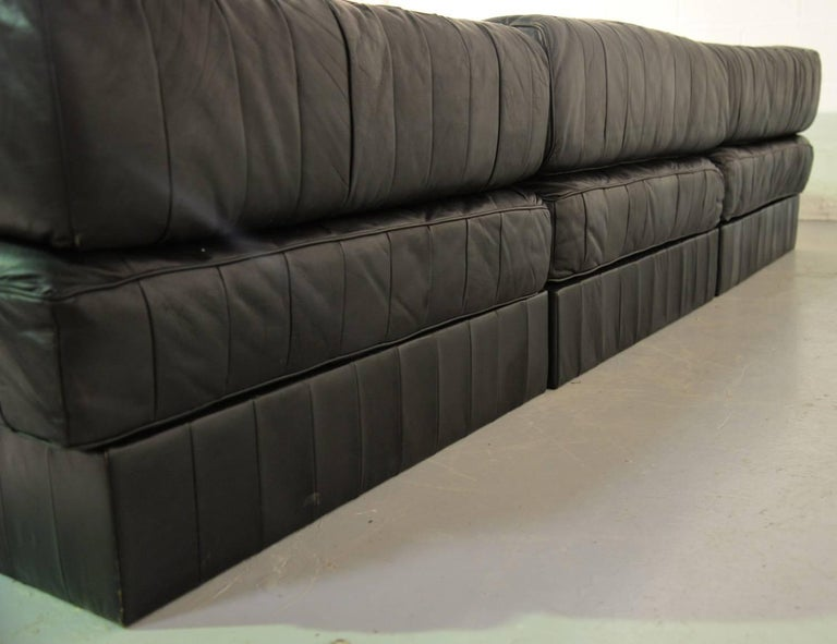 Mid-20th Century Vintage De Sede Ds 88 Patchwork Leather Sofa and Daybed, Switzerland 1960s For Sale