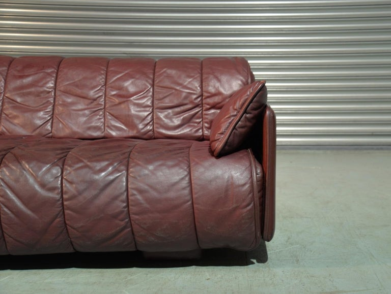 Vintage De Sede Patchwork Leather Sofa / Daybed, Switzerland 1970`s 5