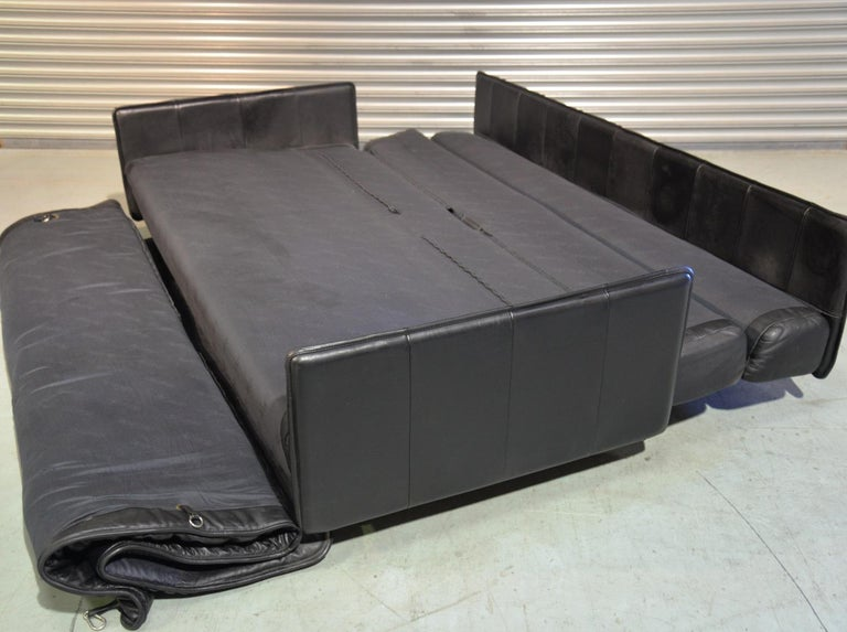 Vintage Swiss De Sede Leather Sofa / Daybed, 1970`s For Sale 7
