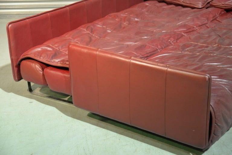Vintage De Sede Patchwork Leather Sofa / Daybed, Switzerland 1970`s 10