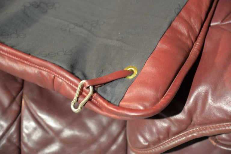 Vintage De Sede Patchwork Leather Sofa / Daybed, Switzerland 1970`s 13