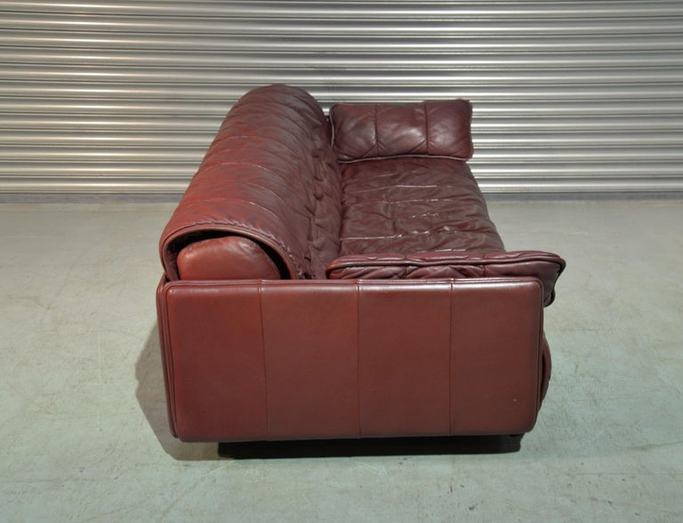 Swiss Vintage De Sede Patchwork Leather Sofa / Daybed, Switzerland 1970`s