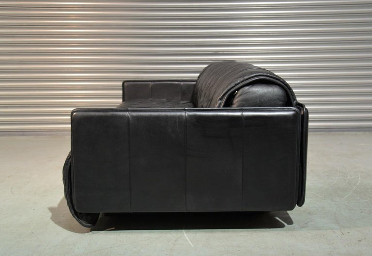 Vintage Swiss De Sede Leather Sofa / Daybed, 1970`s For Sale 2