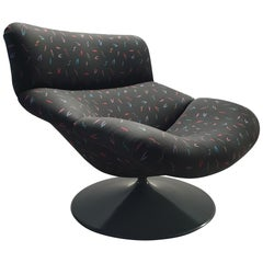 Vintage Swivel Lounge Chair F518 by Geoffrey Harcourt for Artifort, 1979