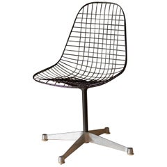 Vintage Swivel PKC Eames Wire Chair for Herman Miller