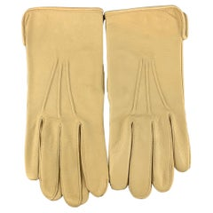 VINTAGE Table Cut Size 9 Khaki Leather Gloves