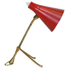 Vintage Table Lamp, Giuseppe Ostuni 'Attributed', 1950s