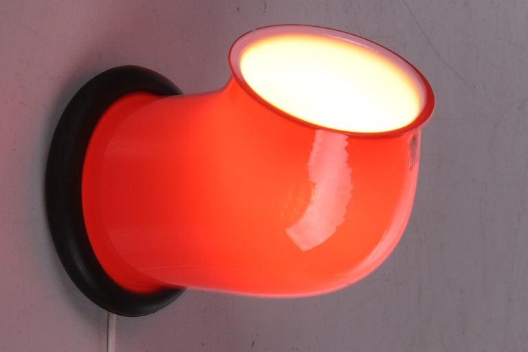 Danish Vintage Table Lamp Holmegaard by Michael Bang, 1972