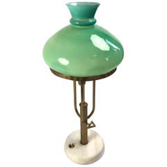 Vintage Table Lamp with Hand Blown Glass Shade Attributed to Ignazio Gardella