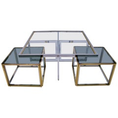 Vintage Table & Nesting Set from Maison Charles, 1970s