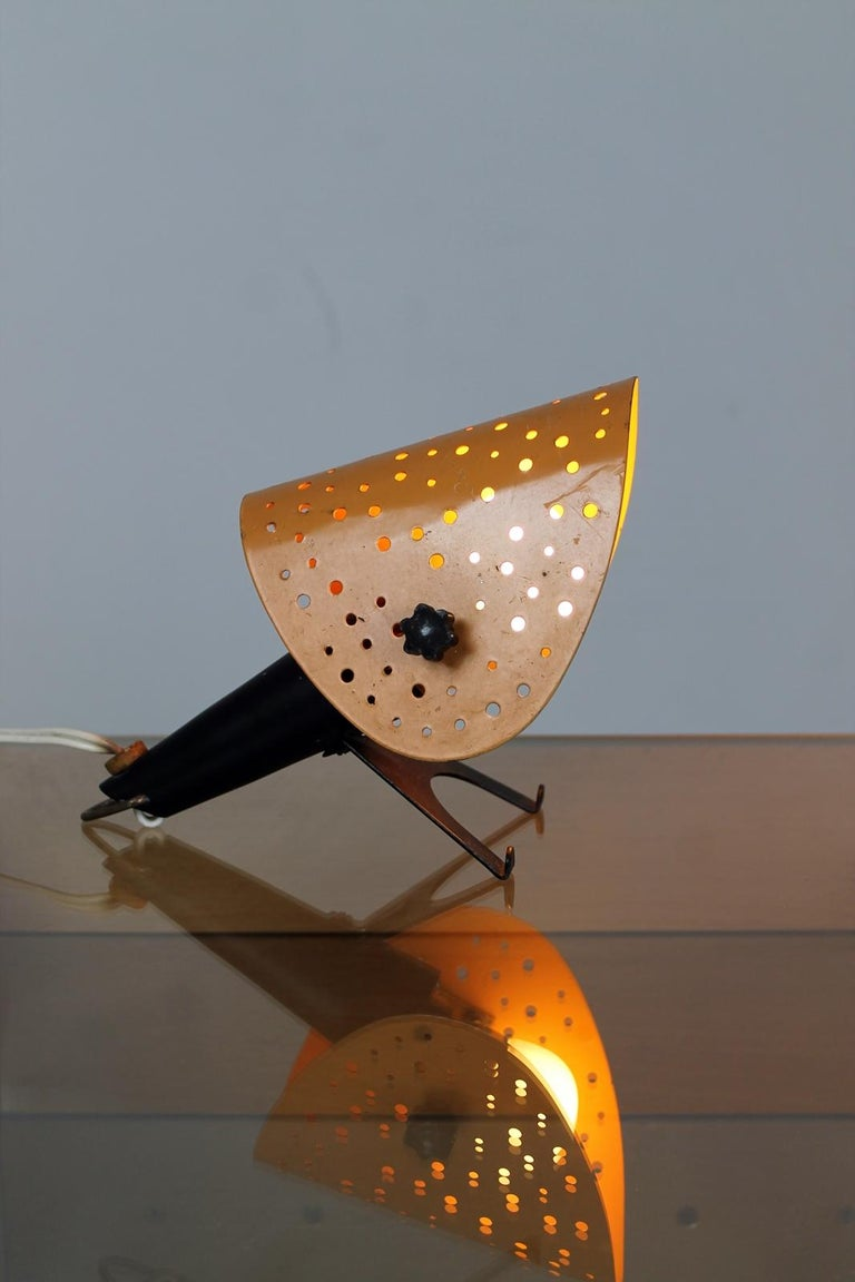 Lacquered Vintage Table/ Wall Lamp by Ernest Igl for Hillebrand, 1950s, Germany For Sale
