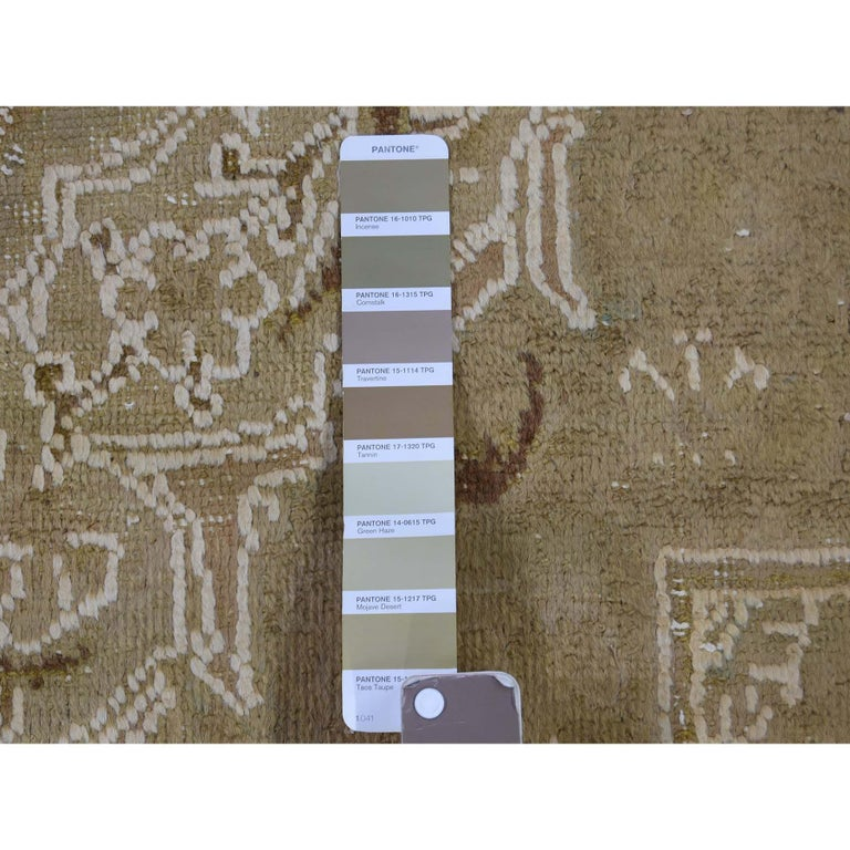 Vintage Tabriz Hand Knotted Pure Wool Oriental Rug For Sale 2