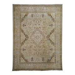 Vintage Tabriz Hand Knotted Pure Wool Oriental Rug