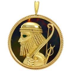 Vintage TADINI Sagittarius Zodiac Pendant