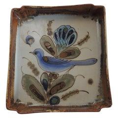 Vintage Talavera Hand Painted Ceramic Catchall Tray