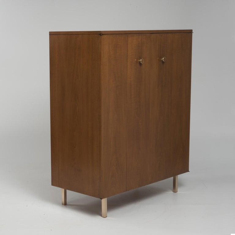 Mid-Century Modern Vintage Tall Midcentury Men's Dresser Chest Johnson Furniture Paul Frankl For Sale