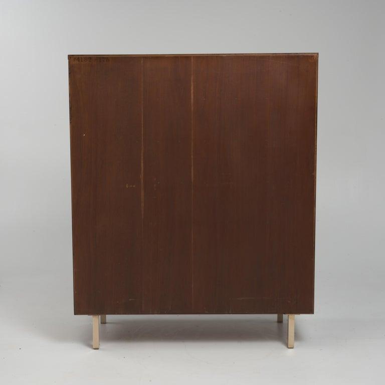 Wood Vintage Tall Midcentury Men's Dresser Chest Johnson Furniture Paul Frankl For Sale