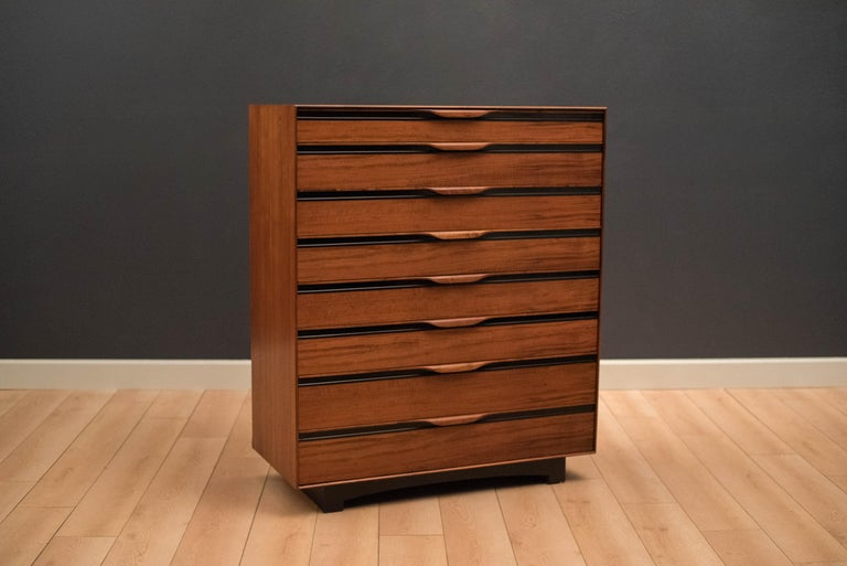 American Vintage Tall Walnut Dresser by John Kapel for Glenn of California For Sale