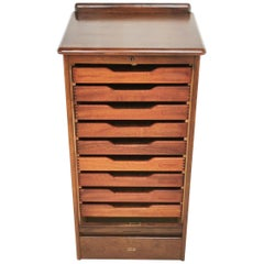 Vintage Tambour Haberdashery Office Filing Cabinet by Abbess, 1940