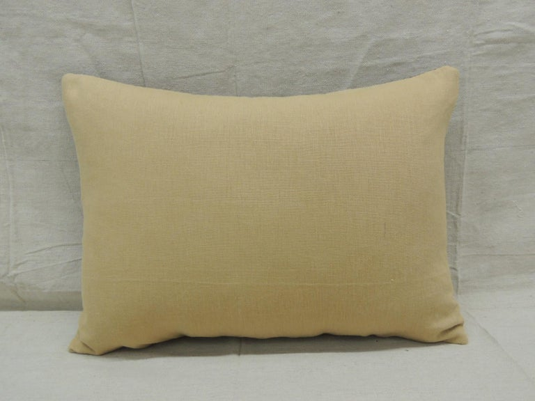 Vintage Tan and Brown African Kuba Decorative Bolster Pillow In Good Condition For Sale In Wilton Manors, FL