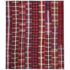 Vintage Plaid Kilim Rug with Timeless Tartan Charm and Luxe Ralph Lauren Style