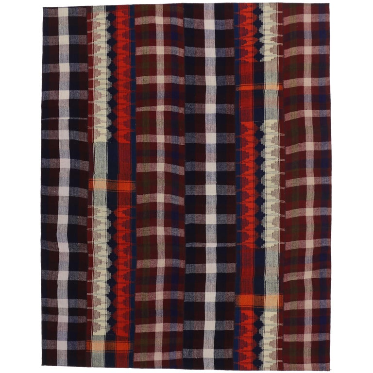 Plaid Rug: Vintage Tartan Plaid Area Rug With Modern Rustic Charm And
