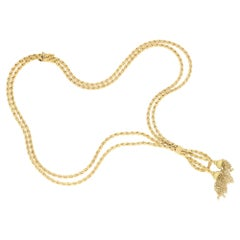 Vintage Tassel Necklace in 18 Karat Gold