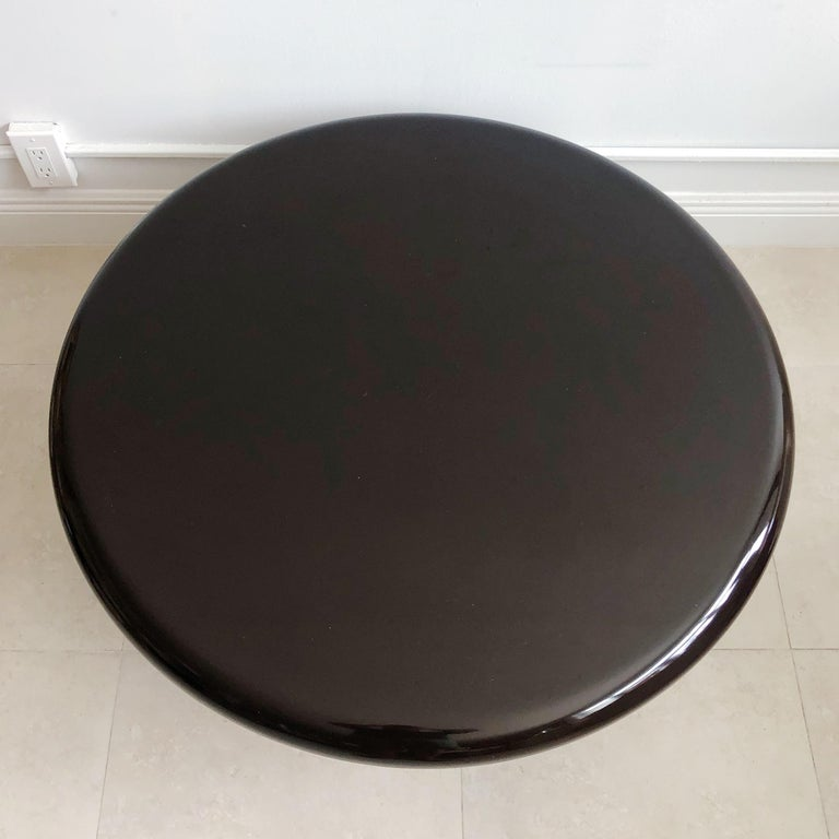Hand-Crafted Vintage Tavolo Tondara Resin Coffee Table by Vico Magistretti for Artemide